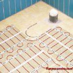 Нагревательные маты теплый пол