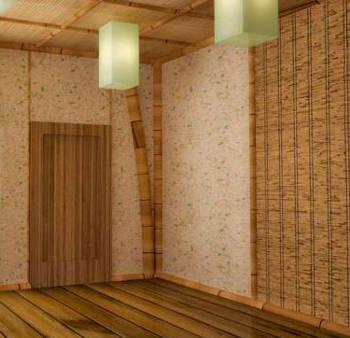 Бамбуковые обои отлично вписываются в интерьер