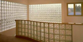 Как установить стеклоблоки