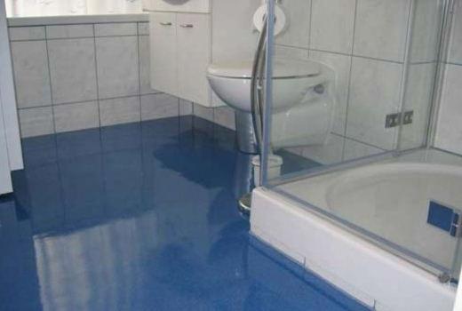 Наливной пол для ванной комнаты