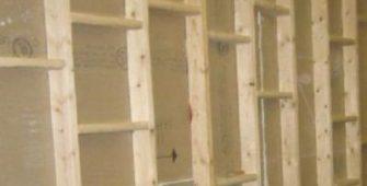 Деревянная обрешетка под гипсокартон