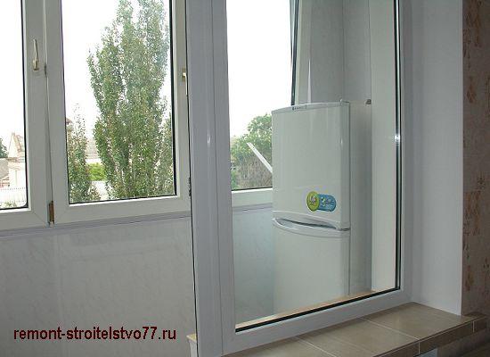Утепленный балкон со стеклопакетами