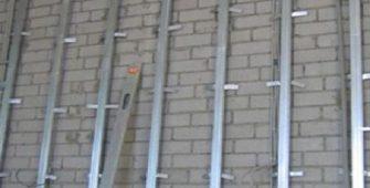 Установка профиля под гипсокартон на стены
