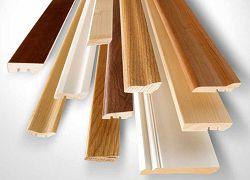 Плинтуса деревянные разного размера