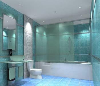 Жидкие обои на стенах ванной