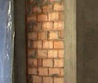 Закладка дверного проема кирпичом