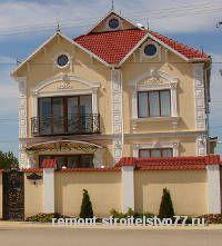Фасад котельцового дома оштукатурили
