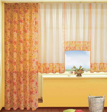 Текстильные шторы с ламбрекеном