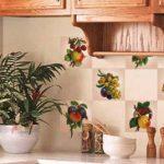 Виниловые наклейки на плитку на кухне