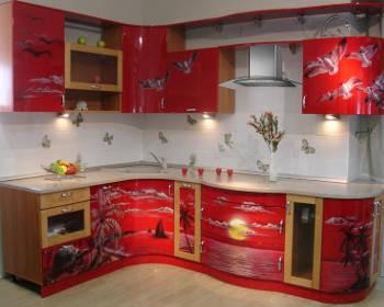 Кухонная мебель оклеенная самоклеющейся плёнкой