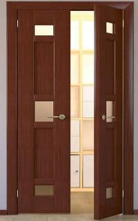 Открывание двухстворчатой двери