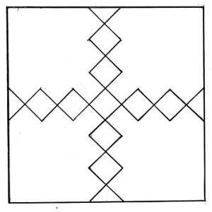 Определение осей перед наклейкой плитки