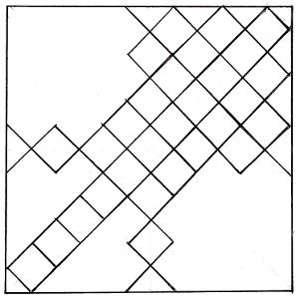 Наклейка потолочной плитки по диагонали от осей